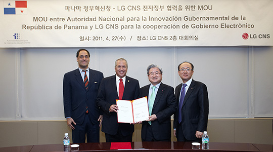Signed an MOU with the Panamanian government to develop an E-Government