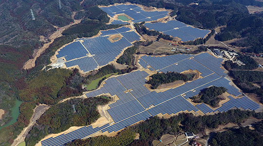 Won a contract for Japan's Shin Mine Solar Plant (55MW) project